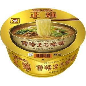 マルちゃん正麺 カップ 香味まろ味噌 (121g カップ 12個)|nico25