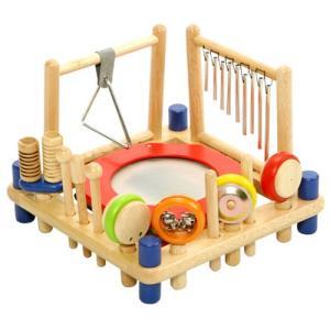 楽器 音楽 木のおもちゃ 2歳 3歳 4歳 子供 誕生日プレゼント ミュージックステーション|nicoly