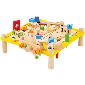 木のおもちゃ 知育玩具 大工 工具 3歳 4歳 5歳 子供 誕生日プレゼント カーペンターテーブル|nicoly