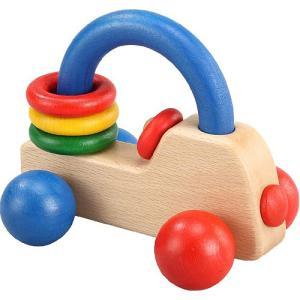 木のおもちゃ 車 木製 赤ちゃん 子供 0歳 1歳 2歳 誕生日プレゼント ロイヤルカー カラー|nicoly