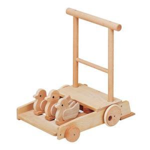 手押し車 赤ちゃん ベビー 木のおもちゃ 1歳 2歳 3歳 子供 誕生日プレゼント 森の押車 ことり|nicoly