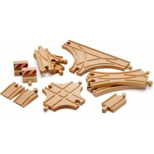 木製レール 3歳 4歳 5歳 子供 誕生日プレゼント ポイントレール拡張セット|nicoly