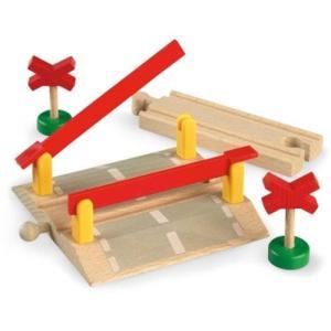 木製レール 3歳 4歳 5歳 子供 誕生日プレゼント 踏切|nicoly