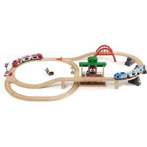 木製レール 3歳 4歳 5歳 子供 誕生日プレゼント トラベルレールセット|nicoly