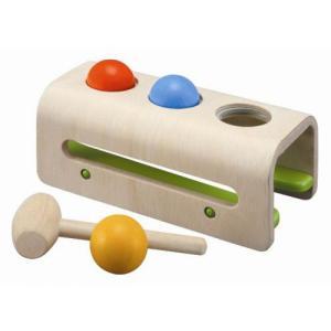 木のおもちゃ ハンマートイ 1歳 2歳 3歳 子供 誕生日プレゼント ハンマーボール|nicoly