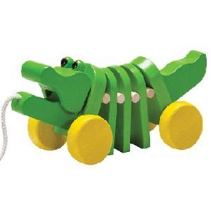 プルトイ 木のおもちゃ 1歳 2歳 3歳 誕生日プレゼント ダンシングアリゲーター|nicoly