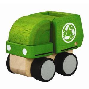 木のおもちゃ 車 木製 赤ちゃん 子供 2歳 3歳 4歳 誕生日プレゼント ミニごみ収集車|nicoly
