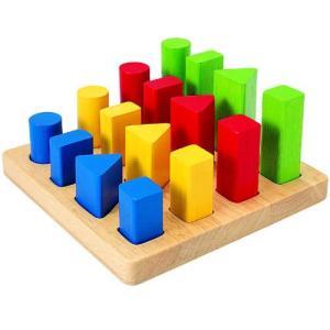 知育玩具 2歳 3歳 4歳 木のおもちゃ 誕生日プレゼント 幾何学ペグボード nicoly