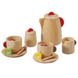 ままごと キッチン 木のおもちゃ 3歳 4歳 5歳 子供 誕生日プレゼント ティーセット|nicoly