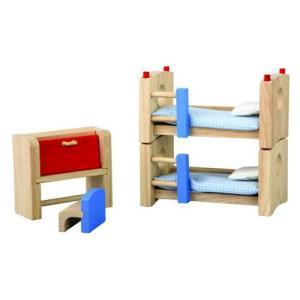ドールハウスキット 木のおもちゃ 木製 女の子 子供 3歳 4歳 5歳 誕生日プレゼント 家具 カラー 子どものベッドルーム|nicoly