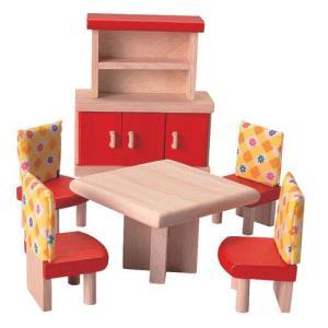 ドールハウスキット 木のおもちゃ 木製 女の子 子供 3歳 4歳 5歳 誕生日プレゼント 家具 カラー ダイニング|nicoly