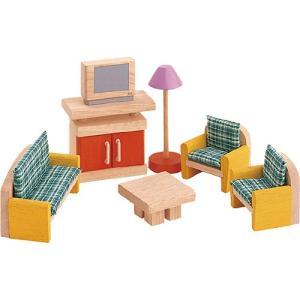 ドールハウスキット 木のおもちゃ 木製 女の子 子供 3歳 4歳 5歳 誕生日プレゼント 家具 カラー リビング|nicoly