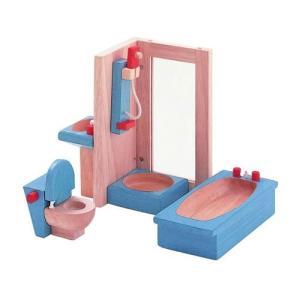ドールハウスキット 木のおもちゃ 木製 女の子 子供 3歳 4歳 5歳 誕生日プレゼント 家具 カラー バスルーム|nicoly