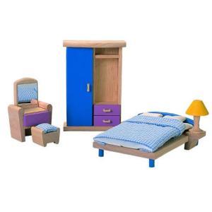 ドールハウスキット 木のおもちゃ 木製 女の子 子供 3歳 4歳 5歳 誕生日プレゼント 家具 カラー ベッドルーム|nicoly