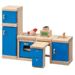 ドールハウスキット 木のおもちゃ 木製 女の子 子供 3歳 4歳 5歳 誕生日プレゼント 家具 カラー キッチン|nicoly