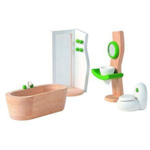 ドールハウスキット 木のおもちゃ 木製 女の子 子供 3歳 4歳 5歳 誕生日プレゼント 家具 デコー バスルーム|nicoly