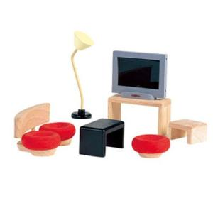 ドールハウスキット 木のおもちゃ 木製 女の子 子供 3歳 4歳 5歳 誕生日プレゼント 家具 デコー リビング|nicoly