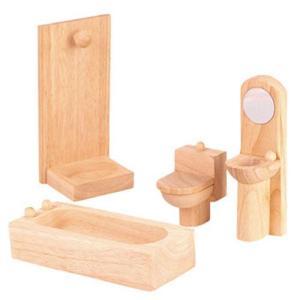 ドールハウスキット 木のおもちゃ 木製 女の子 子供 3歳 4歳 5歳 誕生日プレゼント 家具 クラシック バスルーム|nicoly