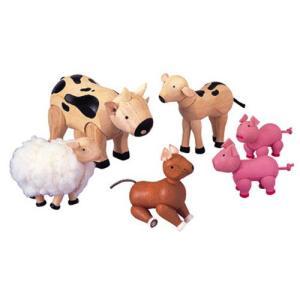 ドールハウスキット 木のおもちゃ 木製 女の子 子供 3歳 4歳 5歳 誕生日プレゼント ファームのどうぶつ|nicoly