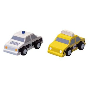 木製レール 電車 木のおもちゃ 3歳 4歳 5歳 誕生日プレゼント タクシーとパトカー nicoly