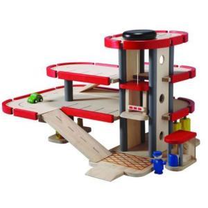 木製レール 電車 木のおもちゃ 3歳 4歳 5歳 誕生日プレゼント パーキングガレージ nicoly