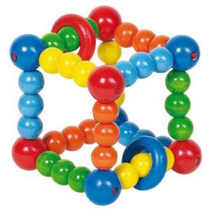 がらがら 赤ちゃん 木のおもちゃ 0歳 1歳 誕生日プレゼント ラトル キューブ|nicoly