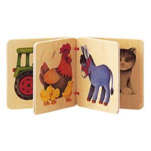 知育玩具 0歳 1歳 2歳 赤ちゃん 木のおもちゃ 子供 誕生日プレゼント アルバム・農場|nicoly