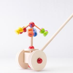 手押し車 赤ちゃん ベビー 木のおもちゃ 1歳 2歳 3歳 子供 誕生日プレゼント 手押し・メリーゴーランド|nicoly