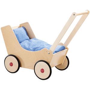 手押し車 赤ちゃん ベビー 木のおもちゃ 1歳 2歳 3歳 子供 誕生日プレゼント 乳母車 白木|nicoly