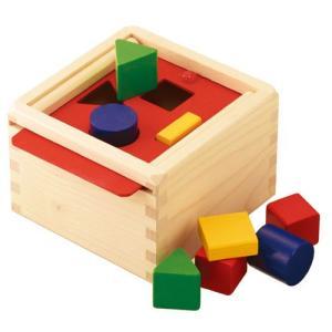積み木 木のおもちゃ 1歳 2歳 3歳 子供 誕生日プレゼント 赤ちゃん かたちの箱|nicoly