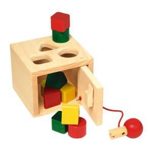 積み木 木のおもちゃ 1歳 2歳 3歳 子供 誕生日プレゼント 赤ちゃん キーボックス|nicoly