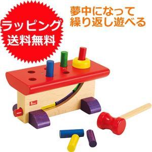 木のおもちゃ ハンマートイ 1歳 2歳 3歳 子供 誕生日プレゼント 大工さん|nicoly