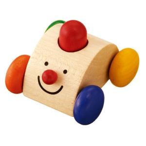 木のおもちゃ 車 木製 赤ちゃん 子供 1歳 2歳 3歳 誕生日プレゼント クラクションカーの画像