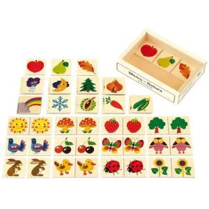 カードゲーム 木のおもちゃ 2歳 3歳 4歳 子供 誕生日プレゼント メモ ナチュラル nicoly