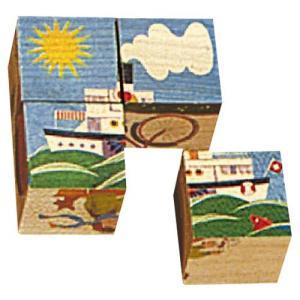 パズル 子供 幼児 知育玩具 木のおもちゃ 1歳 2歳 3歳 誕生日プレゼント 六面体パズル 4pcs 乗物 nicoly