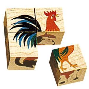 パズル 子供 幼児 知育玩具 木のおもちゃ 1歳 2歳 3歳 誕生日プレゼント 六面体パズル 4pcs アニマルナチュラル nicoly