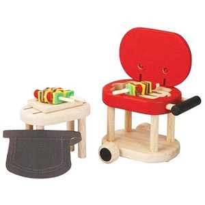 ドールハウスキット 木のおもちゃ 木製 女の子 子供 3歳 4歳 5歳 誕生日プレゼント 家具 バーベーキューセット|nicoly