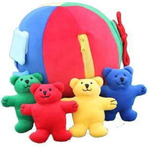 布 おもちゃ 赤ちゃん 1歳 2歳 3歳 誕生日プレゼント ベアボール|nicoly