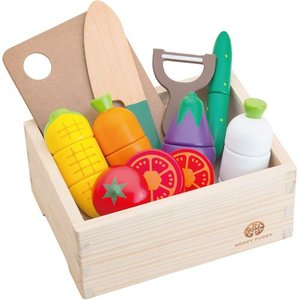 ままごと キッチン 木のおもちゃ 3歳 4歳 5歳 子供 誕生日プレゼント サラダセット 木箱入り|nicoly