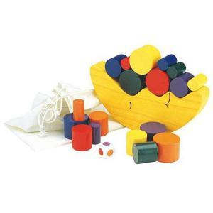 知育玩具 3歳 4歳 5歳 木のおもちゃ 誕生日プレゼント お月さまバランスゲーム|nicoly