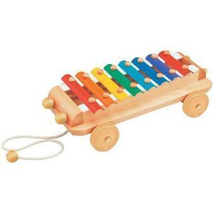 楽器 音楽 木のおもちゃ 1歳 2歳 3歳 子供 誕生日プレゼント シロフォンカー|nicoly