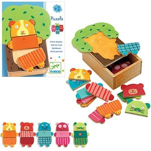 パズル 子供 幼児 知育玩具 2歳 3歳 4歳 誕生日プレゼント 木のおもちゃ ツリー クドゥリーパズル|nicoly