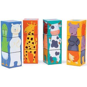 パズル 子供 幼児 知育玩具 3歳 4歳 5歳 誕生日プレゼント 12カラー アニマルブロックス|nicoly