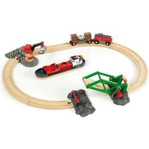 木製レール 3歳 4歳 5歳 子供 誕生日プレゼント カーゴハーバーセット|nicoly