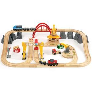 木製レール 3歳 4歳 5歳 子供 誕生日プレゼント カーゴレールデラックスセット|nicoly