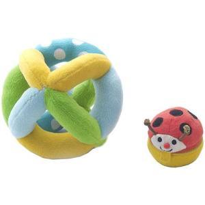 布 おもちゃ 赤ちゃん がらがら 0歳 1歳 誕生日プレゼント コロコロ コロリン|nicoly