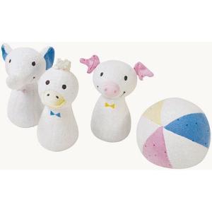布 おもちゃ 赤ちゃん 0歳 1歳 誕生日プレゼント ふわふわアニマルボーリング|nicoly