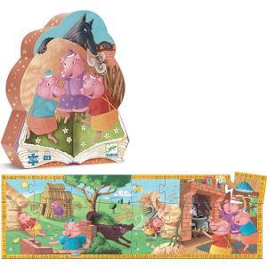 ジグソーパズル 知育玩具 子供 幼児 3歳 4歳 5歳 子供 誕生日プレゼント 三匹のこぶた|nicoly