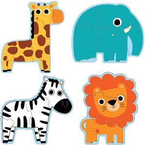 ジグソーパズル 知育玩具 子供 幼児 2歳 3歳 4歳 子供 誕生日プレゼント プリモパズル インザジャングル|nicoly