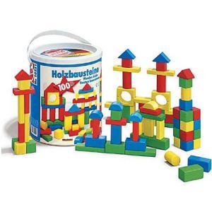 積み木 木のおもちゃ 1歳 2歳 3歳 子供 誕生日プレゼント 赤ちゃん HEROS 筒入積木 100ピース|nicoly